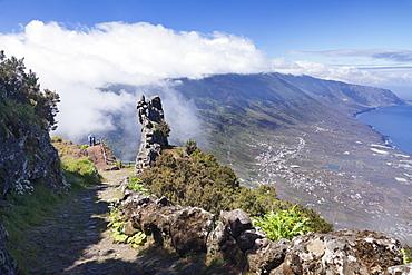 View from Mirador de Jinama to El Golfo Valley, UNESCO biosphere reserve, El Hierro, Canary Islands, Spain, Atlantic, Europe