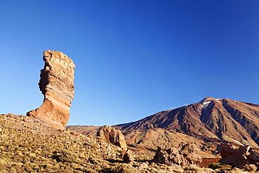 Los Roques de Garcia at Caldera de las Canadas, Pico de Teide, National Park Teide, UNESCO World Heritage Natural Site, Tenerife, Canary Islands, Spain, Europe