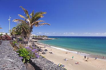 Playa Grande Beach, Puerto del Carmen, Lanzarote, Canary Islands, Spain, Atlantic, Europe