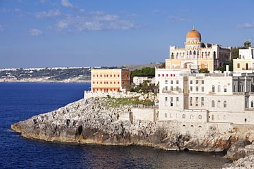 Santa Cesarea Terme, Villa Sticchi, Adriatic Sea, Lecce province, Salentine Peninsula, Puglia, Italy, Europe