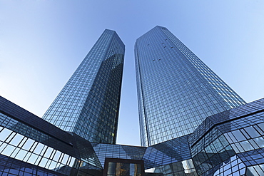 Deutsche Bank office tower block, Frankfurt, Hesse, Germany, Europe