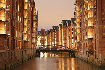 Wandrahmsfleet, Speicherstadt, Hamburg, Hanseatic City, Germany, Europe