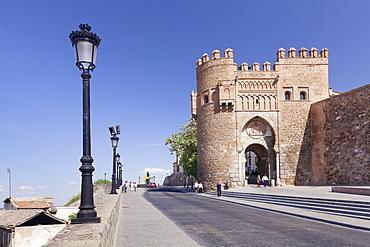 Puerto del Sol town gate Toledo, Castilla-La Mancha, Spain, Europe