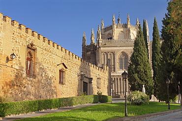 The wall of Palacio de la Cava, San Juan de los Reyes Monastery, Toledo, Castilla-La Mancha, Spain, Europe
