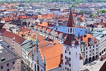Old town hall (Altes Rathaus) at Marienplatz Square, Munich, Bavaria, Germany, Europe