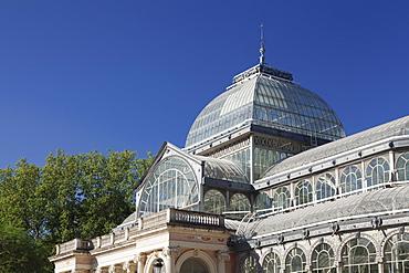 Crystal Palace (Palacio de Cristal), Retiro Park, Parque del Buen Retiro, Madrid, Spain, Europe