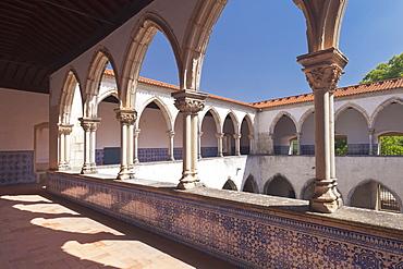 Claustro da Lavagem cloister, Convento de Cristi (Convent of Christ) Monastery, UNESCO World Heritage Site, Tomar, Portugal, Europe