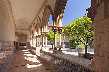 Claustro do Cemiterio cloister, Convento de Cristi (Convent of Christ) Monastery, UNESCO World Heritage Site, Tomar, Portugal, Europe