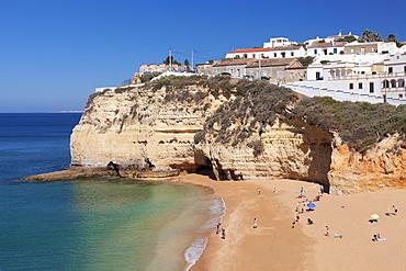 Praia da Carvoeiro beach, Carvoeiro, Algarve, Portugal, Europe