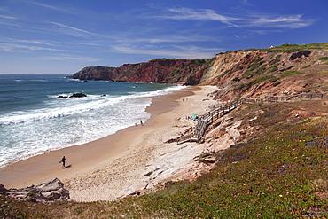 Praia do Amado Beach, Atlantic Ocean, Carrapateira, Costa Vicentina, Algarve, Portugal, Europe