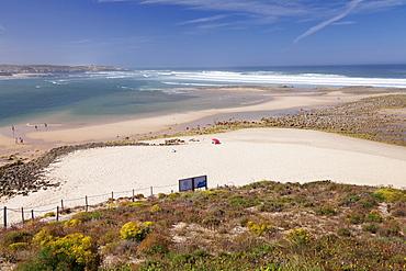 Beach at Rio Mira River, Vila Nova de Milfontes, Atlantic Ocean, Costa Alentejana, Alentejo, Portugal, Europe
