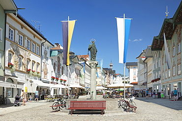 Marktstrasse street, pedestrian zone, Bad Toelz, Upper Bavaria, Bavaria, Germany, Europe
