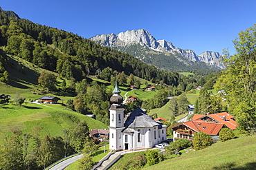 Maria Gern pilgrimage church in Berchtesgaden National Park, Germany, Europe