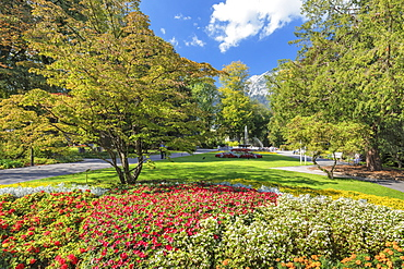 Spa Park in Bad Reichenhall, Germany, Europe