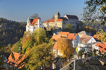 Hohnstein Castle in Saxony, Germany, Europe