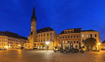 Town Hall at Hauptmarkt Square, Bautzen, Upper Lusatia, Saxony, Germany, Europe