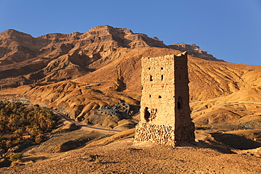 Tower, Draa Valley, Djebel Kissane Mountain, Morocco, North Africa, Africa