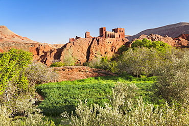 Kasbah Ait Aesh, Dades Valley, Atlas Mountains, Southern Morocco, Morocco, North Africa, Africa