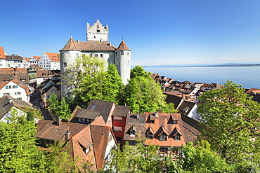 Old Castle, Meersburg, Lake Constance, Baden-Wurttemberg, Germany, Europe