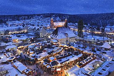 Christmas market, Freudenstadt, Black Forest, Baden-Wurttemberg, Germany, Europe