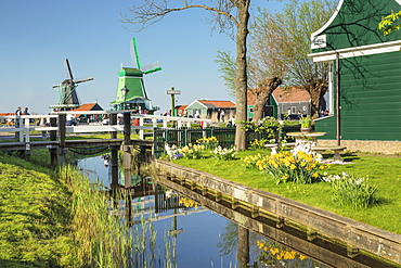 Traditional village, Zaanse Schans, Zaandam, North Holland, Netherlands, Europe