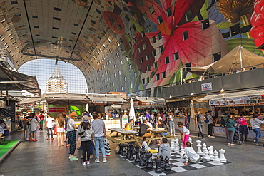 Markthal, New Market Hall, Rotterdam, South Holland, Netherlands, Europe