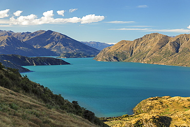 Lake Wanaka from Roy's Peak Track, Mount-Aspiring National Park, UNESCO World Heritage Natural Site, Otago, South Island, New Zealand, Pacific