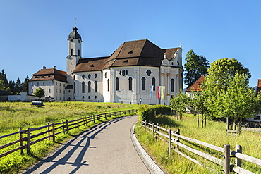 Pilgrimage Church Wieskirche, Steingaden, Romantic Road, Pfaffenwinkel, Upper Bavaria, Germany, Europe