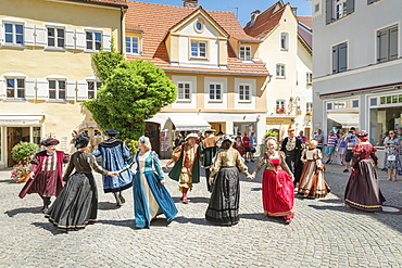 Patrician Dances in the old town, Fussen, Allgau, Schwaben, Bavaria, Germany, Europe