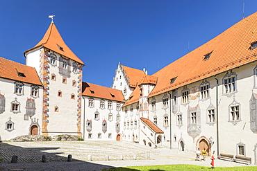 Hohes Schloss Castle, Fussen, Allgau, Schwaben, Bavaria, Germany, Europe