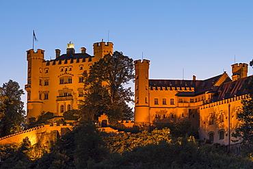 Hohenschwangau Castle, Schwangau, Allgau, Schwaben, Bavaria, Germany, Europe