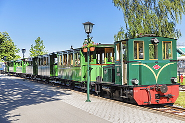 Chiemsee Railway at Prien Stock Station, Prien am Lake Chiemsee, Upper Bavaria, Germany, Europe