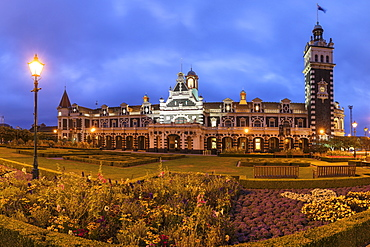 Dunedin station, Architect George Alexander Troup, Dunedin, Otago, South Island, New Zealand, Pacific