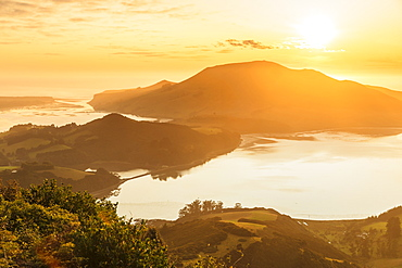 Hoopers Inlet at sunrise, Otago Peninsula, Dunedin, Otago, South Island, New Zealand, Pacific