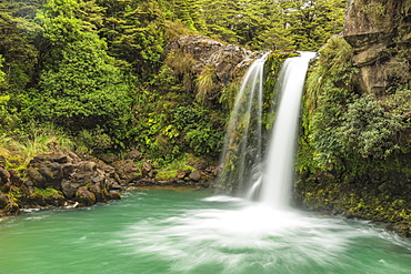 Tawhei Falls Waterfall, Tongariro National Park, UNESCO World Heritage Site, North Island, New Zealand, Pacific