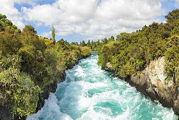 Huka Falls Waterfall, Waikato River, Taupo District, North Island, New Zealand, Pacific