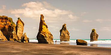 Three Sisters Beach, Tongaporutu, Taranaki, North Island, New Zealand, Pacific
