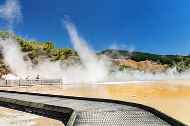 Champagne Pool, Wai-O-Tapu Thermal Wonderland, Rotorua, Bay of Plenty, North Island, New Zealand, Pacific