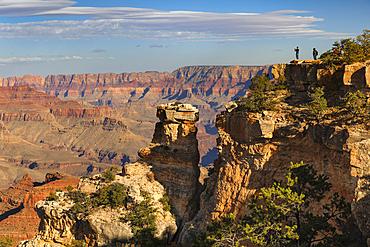 Blick vom Grandview Point, South Rim, Grand Canyon Nationalpark, Arizona, Vereinigte Staaten, USA