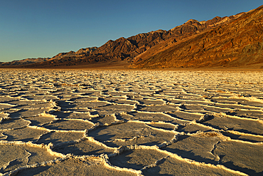 Badwater Basin at sunset, Death Valley National Park, California, USA