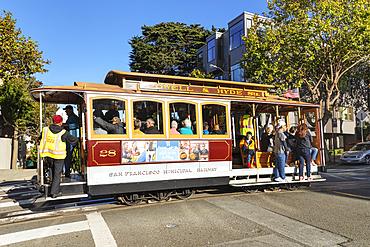 Cable Car at Russian Hill, San Francisco, California, USA