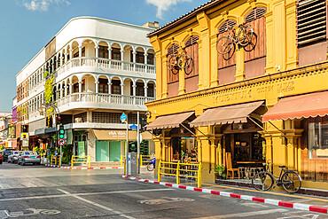 Old Phuket Coffee Station, Sino-Portuguese architecture, Phuket Town, Phuket, Thailand, Southeast Asia, Asia