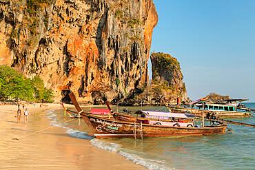 Phra Nang beach, Railay Peninsula, Krabi Province, Thailand, Southeast Asia, Asia