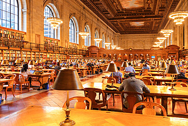 New York Public Library, Fifth Avenue, Manhattan, New York City, New York, United States of America, North America