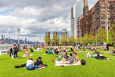 Domino Park, Williamsburg, Brooklyn, New York City, United States of America, North America