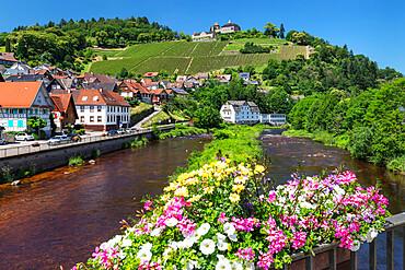 Eberstein Castle, Gernsbach, Murgtal Valley, Black Forest, Baden Wurttemberg, Germany, Europe