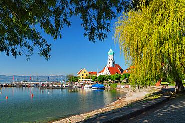 St. Georg church on Lake Constance, Bavaria, Swabia, Germany