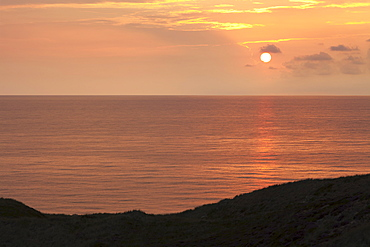 Sunset at the Red Cliff, Kampen, Sylt, North Frisian Islands, Nordfriesland, Schleswig Holstein, Germany, Europe