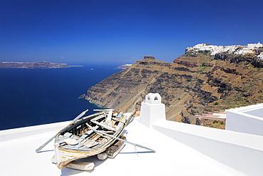 View from Firostefani to Imerovigli, Santorini, Cyclades, Aegean Sea, Greek Islands, Greece, Europe