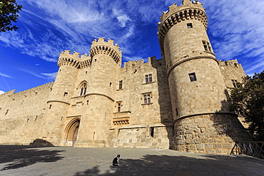 Palace of the Grand Masters, Medieval Old Rhodes Town, UNESCO World Heritage Site, Rhodes, Dodecanese, Greek Islands, Greece, Europe